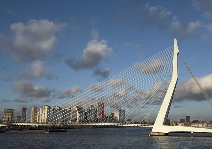 Cruise travel Norwegian getaway Rotterdam Erasmusbrug