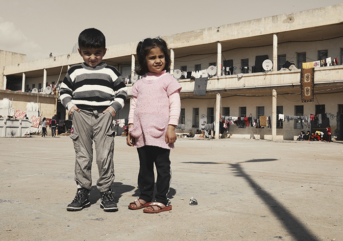 Vluchtelingenkamp Noord-Irak Syrische Koerden
