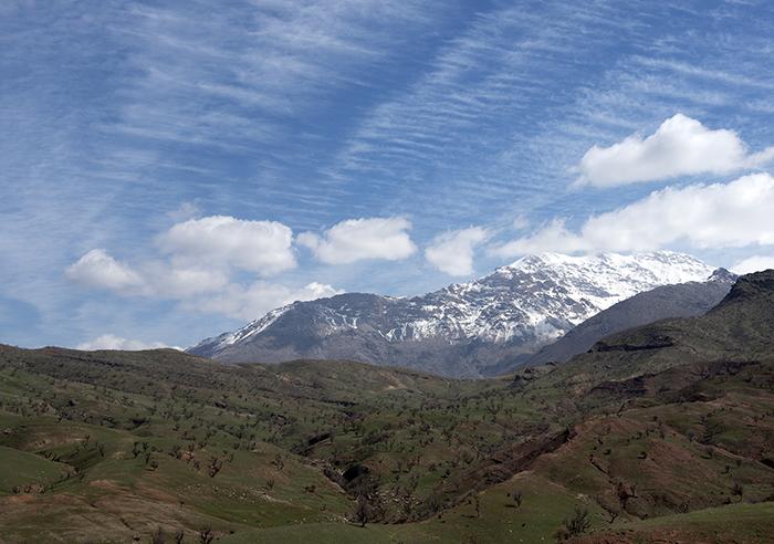 Autonoom Iraaks Koerdistan tegen de grens met Iran