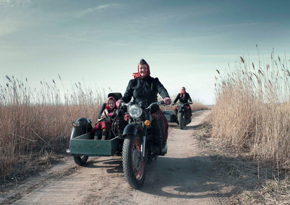 Motor met zijspan Kihnu Estland